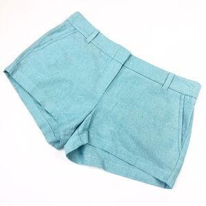 "J Crew   Aqua Blue 3"" Inseam Chino Shorts"